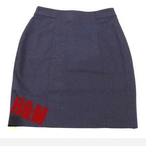 NWT navy blue pencil skirt H&M size: 8